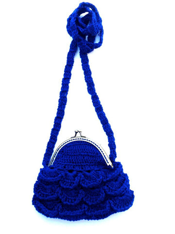 Blue/Green Handmade Crocheted Purse