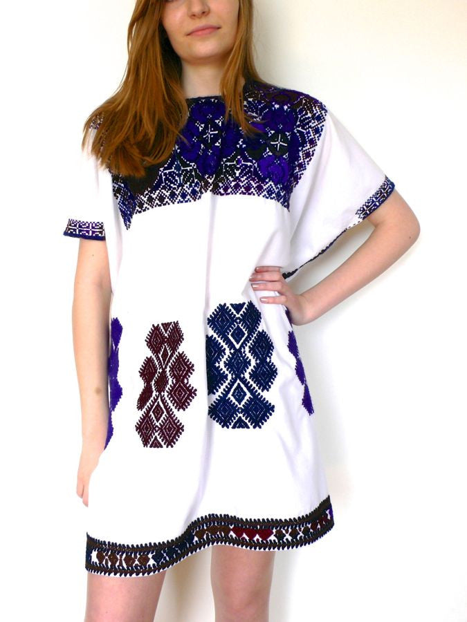 Blue/Purple Cross Stitch Dresses