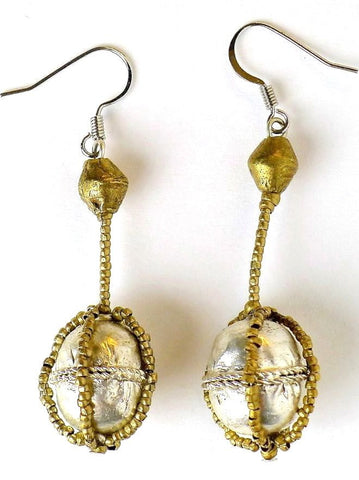 Handmade earrings by Entoto Beth Artisans
