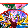 Pink,red  green and blue handwoven basket from Labilela