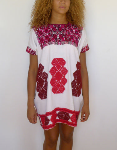 Pink/Red Cross Stitch Dresses