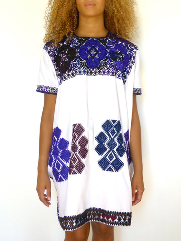 Purple/Blue Cross Stitch Dresses