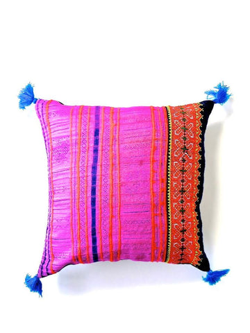 Pink Vintage Patchwork Cushion