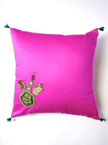 Pink /Swarovski elements cushion