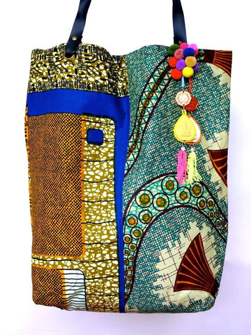 African style Batik print bag with Thai detailing