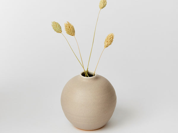 Bud Vase - Pale Grey Ball