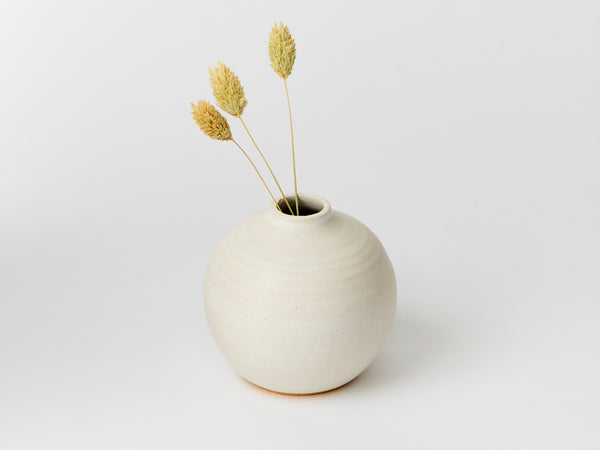 Bud Vase - White Ball