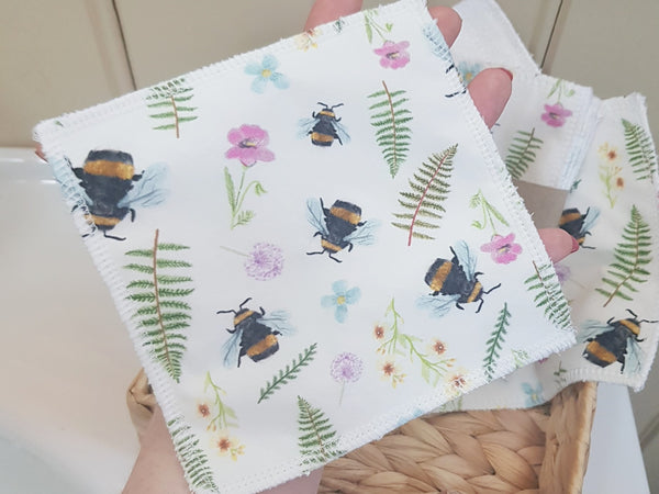Reusable Wipes - Spring Bees