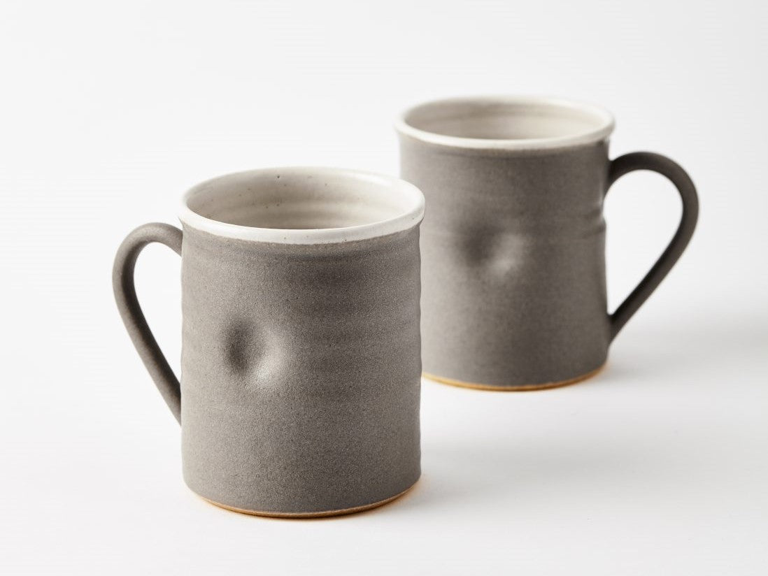 Thumb Print Mug - Dark Grey
