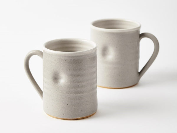 Thumb Print Mug - Pale Grey