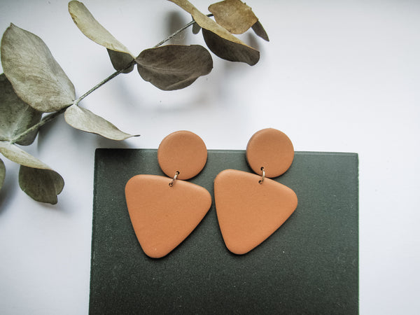 Paige Earrings Muted Clay