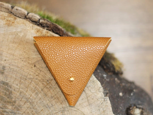 Leather Origami Triangle Pouch - Various Colours