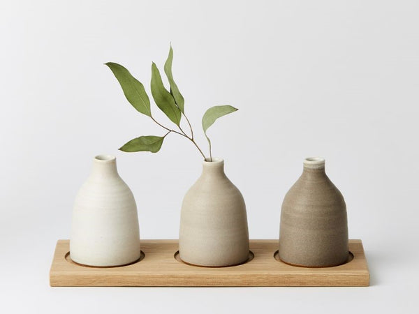 Bud Vase Medium - Pale Grey