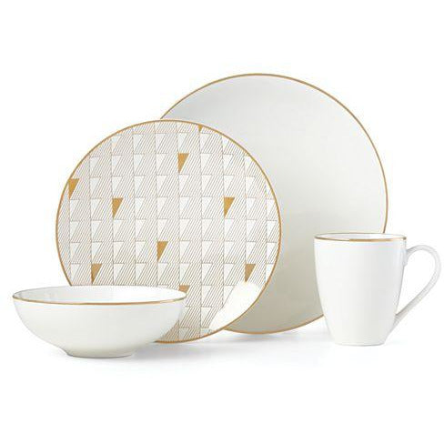 Trianna 4-Pc. Place Setting with Gold Salad Plate