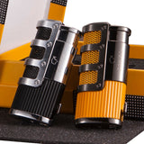 COHIBA Gadgets Gridding Stripes Butane Lighter With Gift Box