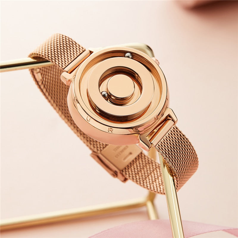 Magnetic Gold Trend Womens Watch