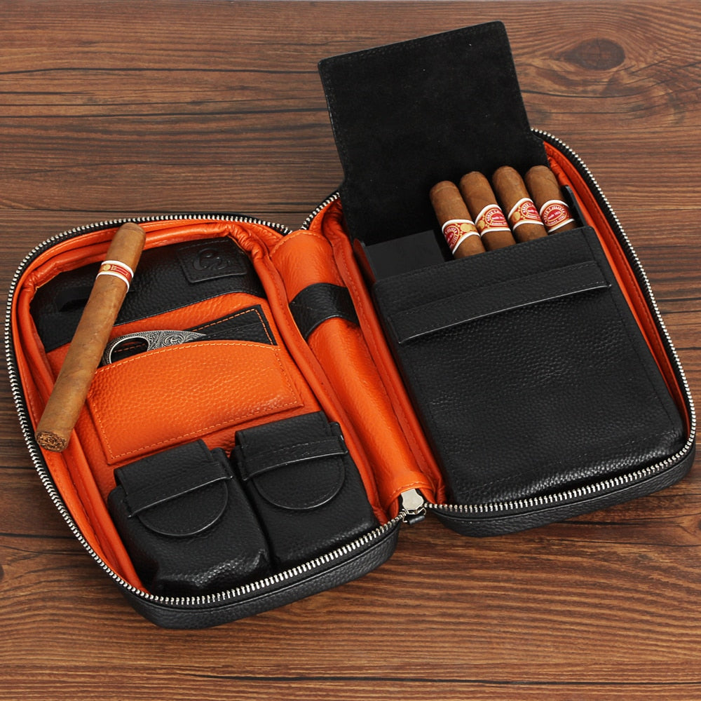 GALINER Gadgets Genuine Leather Cigar Case