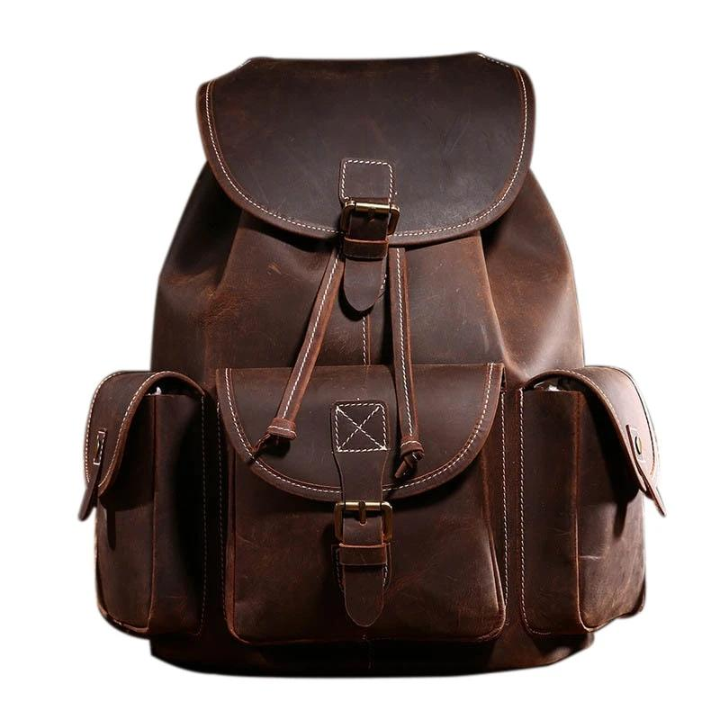 Mens Leather Backpack Bag