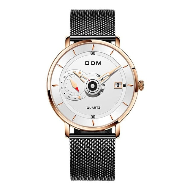 DOM Mens Steel Sports Watch