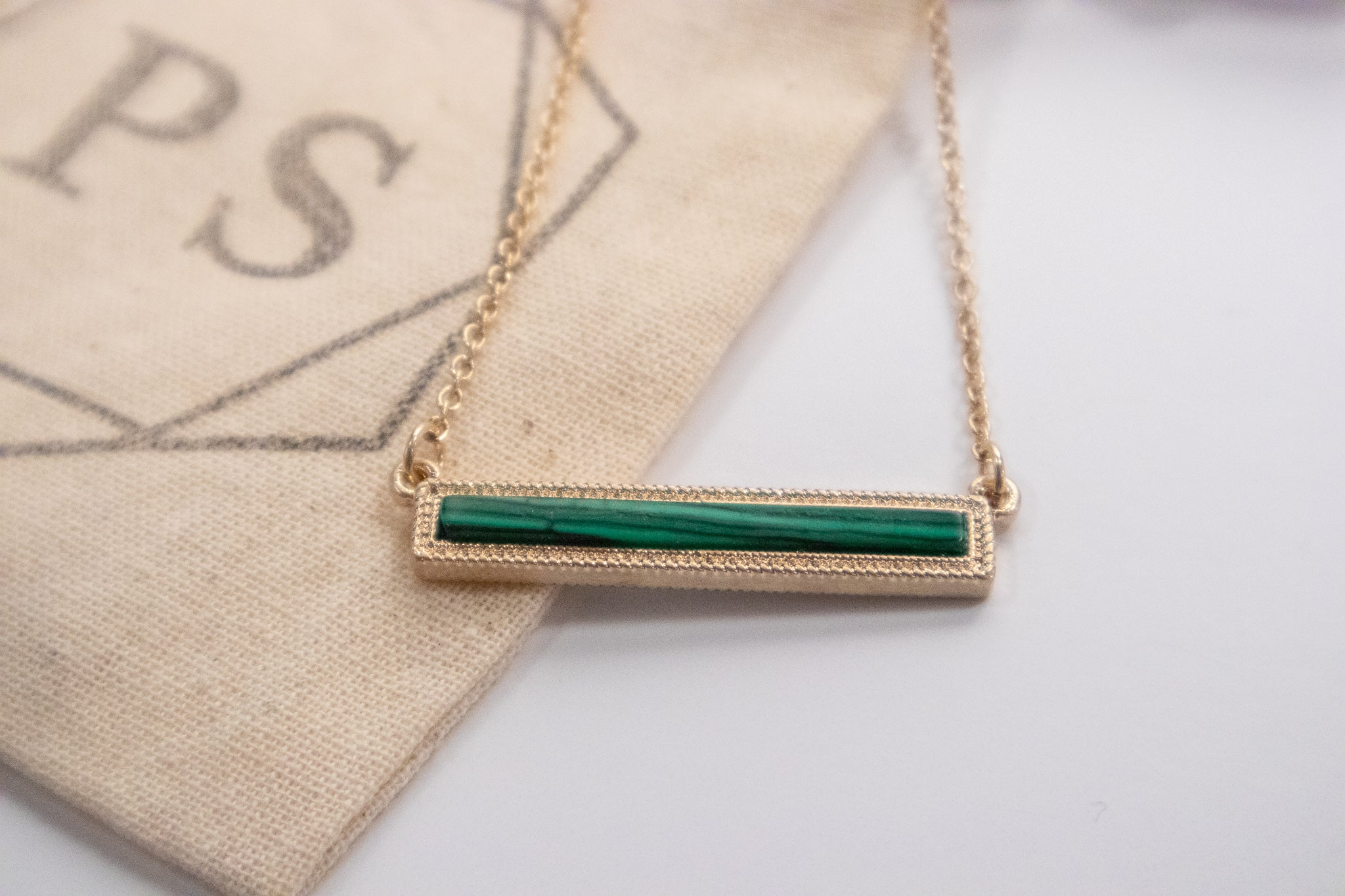 Malachite Bar Necklace