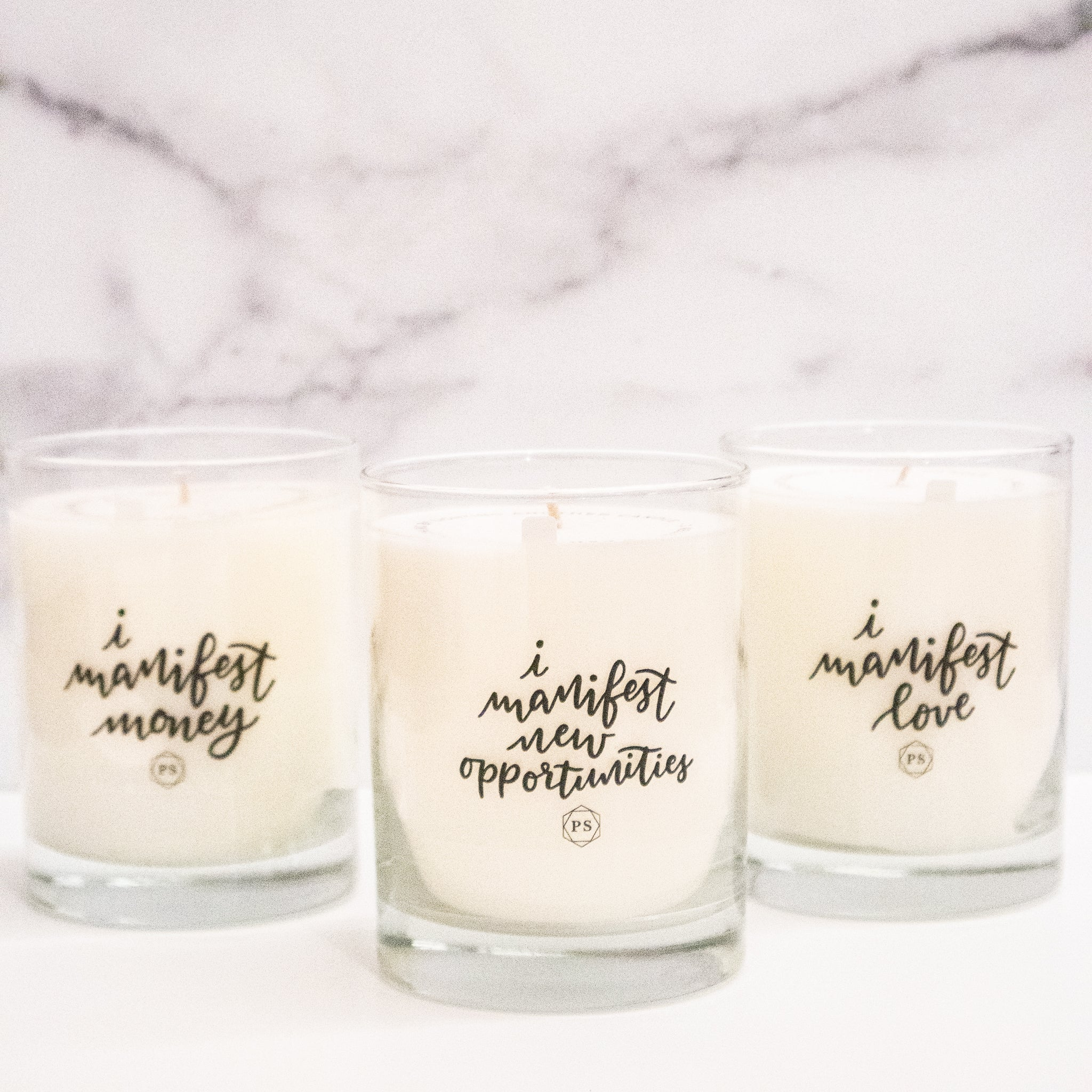 I Manifest New Opportunities Candle