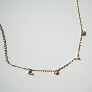 Gold and Crystal Love Necklace