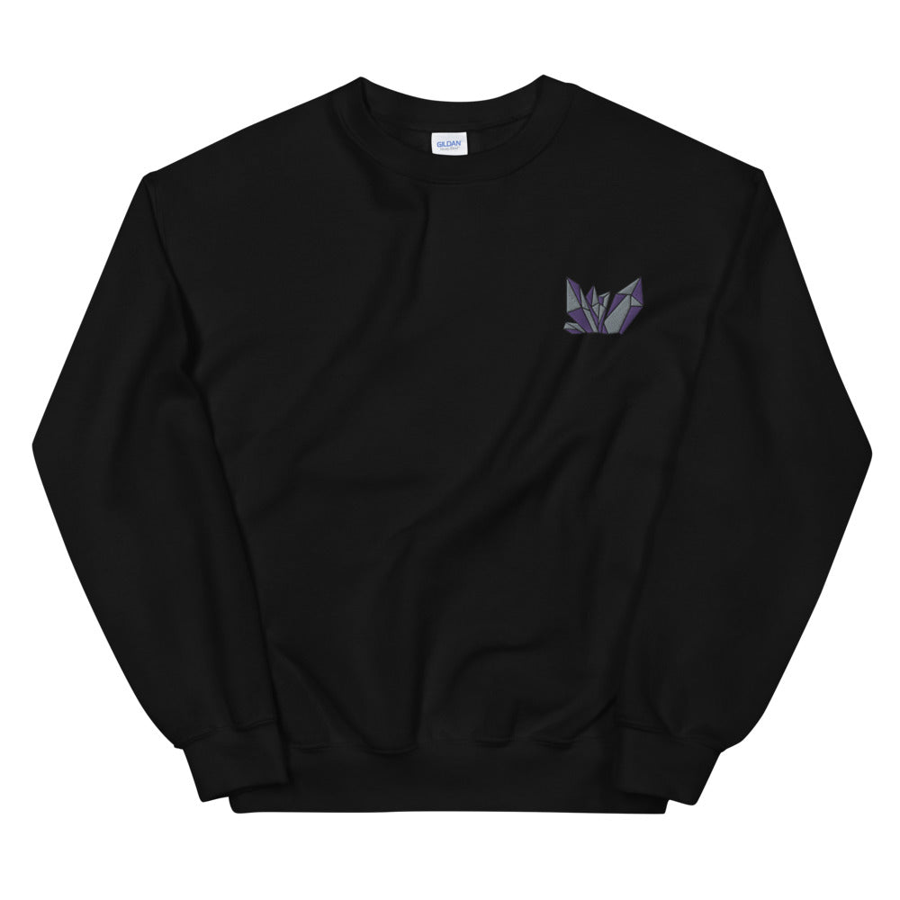 High Vibe Crystal Embroidered Sweatshirt