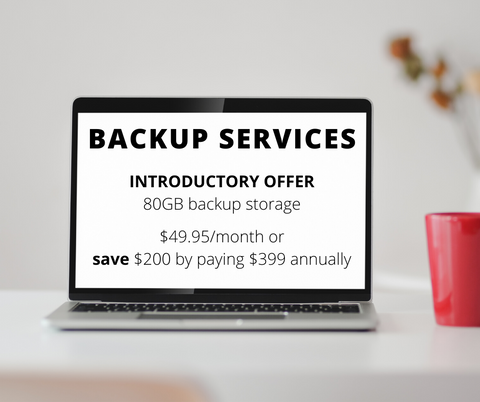 Backup Services 80GB ANNUAL package