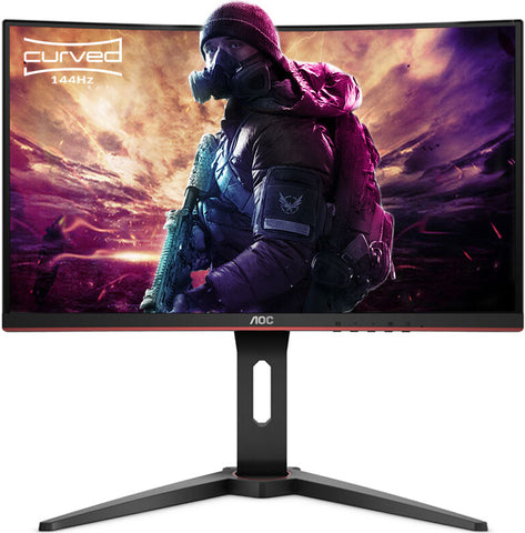 "AOC 31.5"" Curved 1ms 144Hz Full HD FreeSync Ultra Narrow Border Gaming Monitor"
