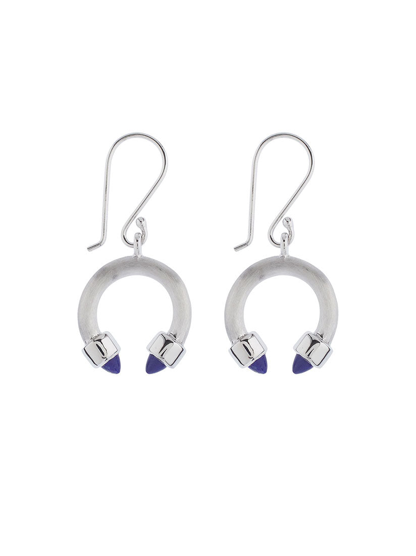 Freedom Silver Earrings With Lapis Lazuli