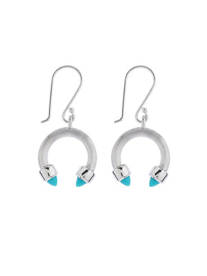 Freedom Silver Earrings With Turquoise