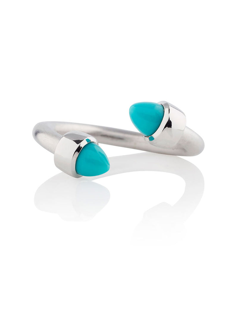 Freedom Silver Ring With Turquoise