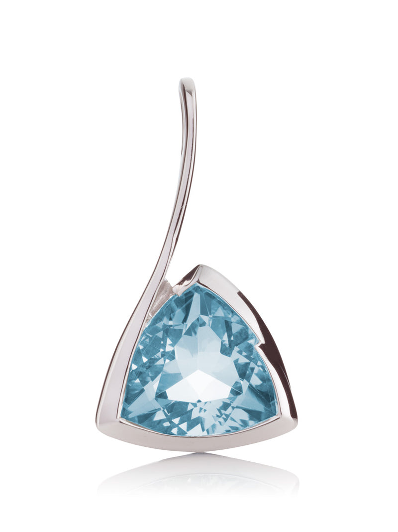 Amore Silver Pendant with Blue Topaz