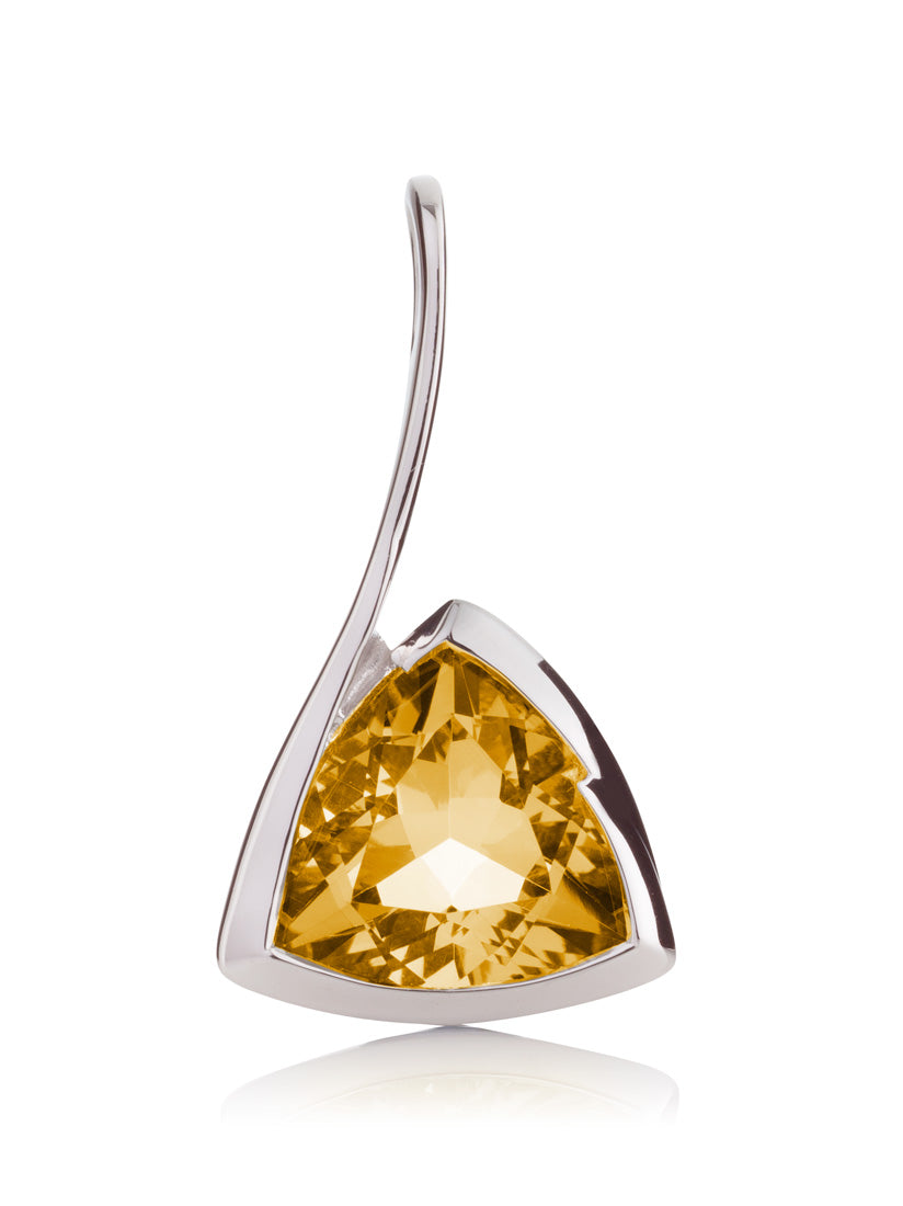 Amore Silver Pendant with Citrine