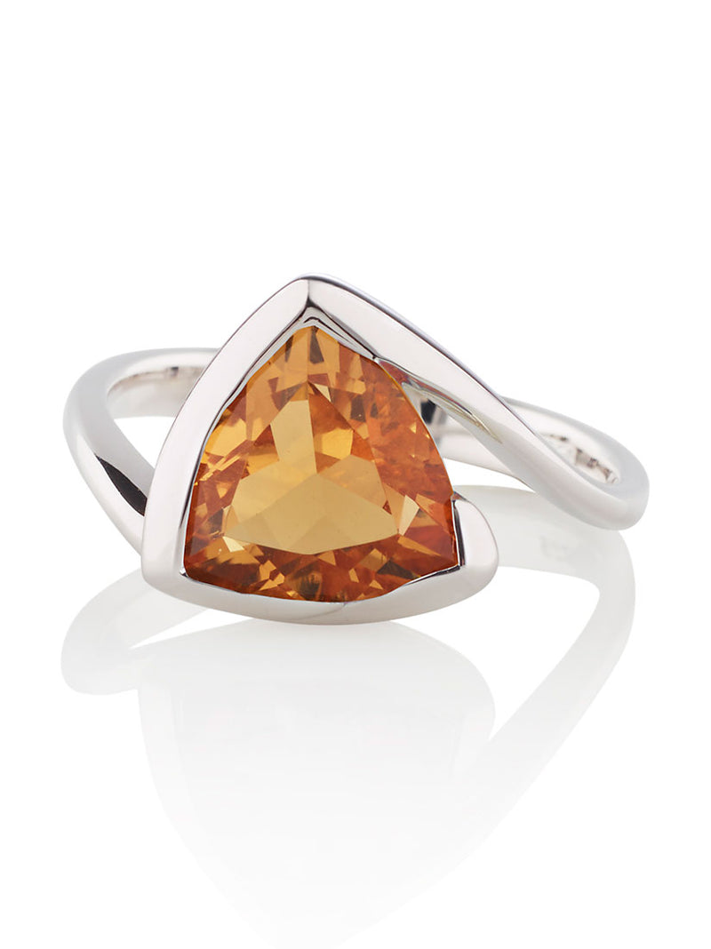 Amore Silver Ring with Citrine