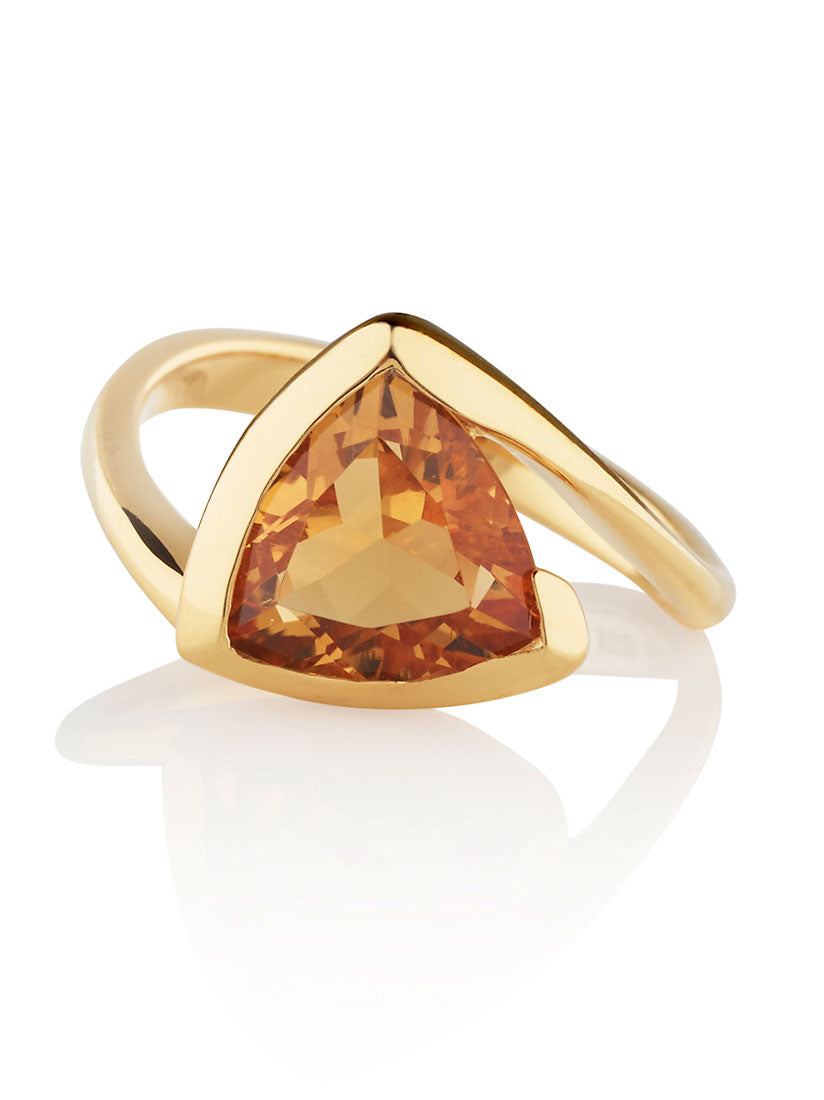 Amore Gold Ring With Citrine