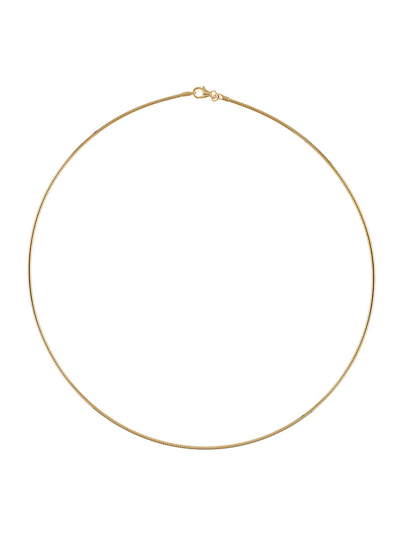 Omega Gold plated Sterling Silver Chain