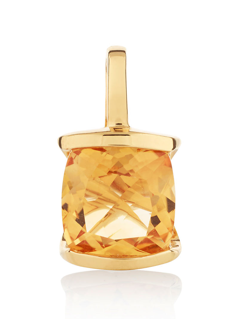 Infinity Gold Pendant With Citrine