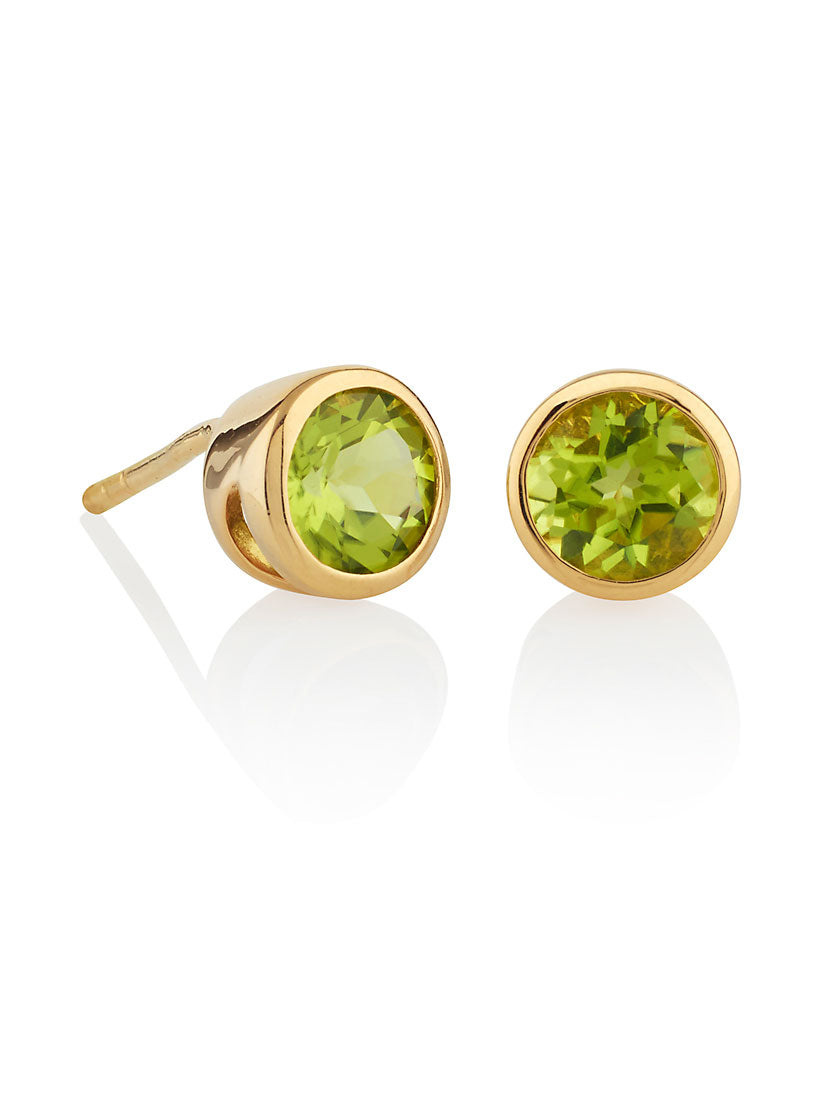 Juliet Gold Earrings With Peridot
