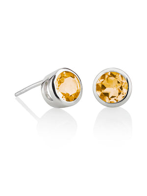 Juliet Silver Earrings With Citrine