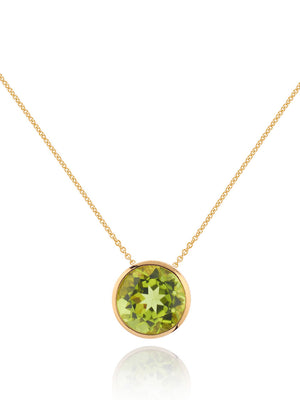 Juliet Gold Necklace With Peridot
