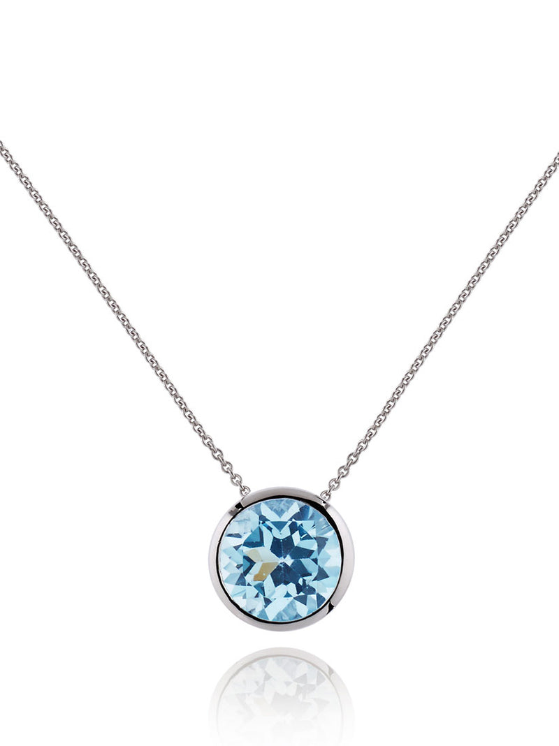 Juliet Silver Necklace With Blue topaz