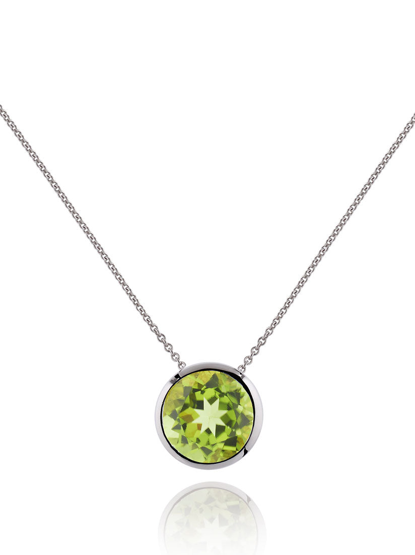 Juliet Silver Necklace With Peridot