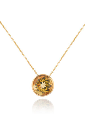Juliet Gold Necklace With Citrine