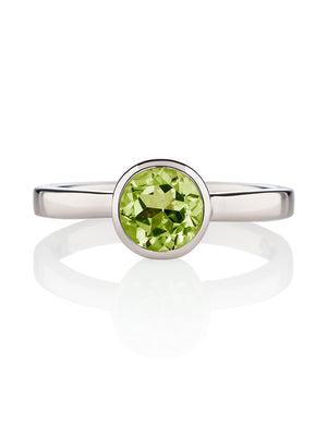 Juliet Silver Ring with Peridot