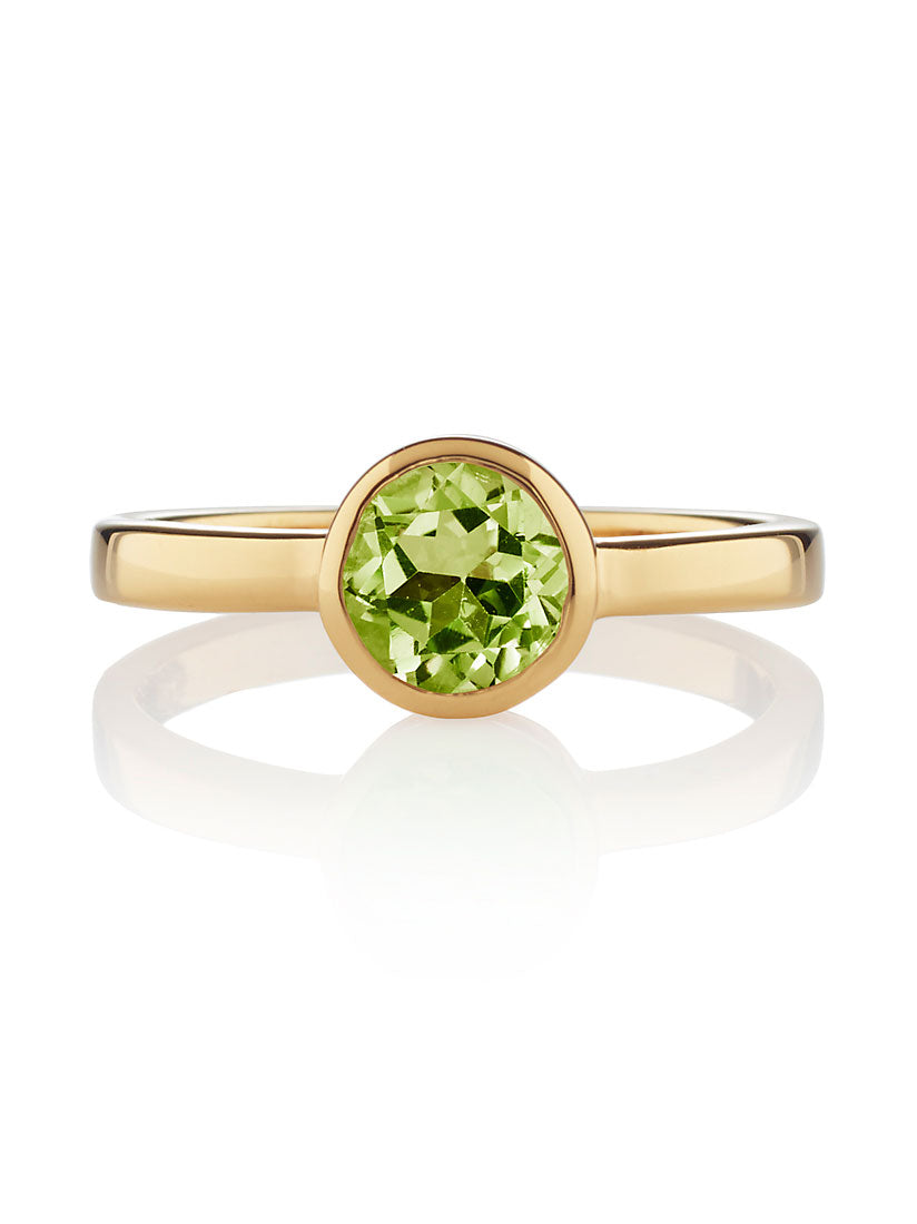 Juliet Gold Ring with Peridot