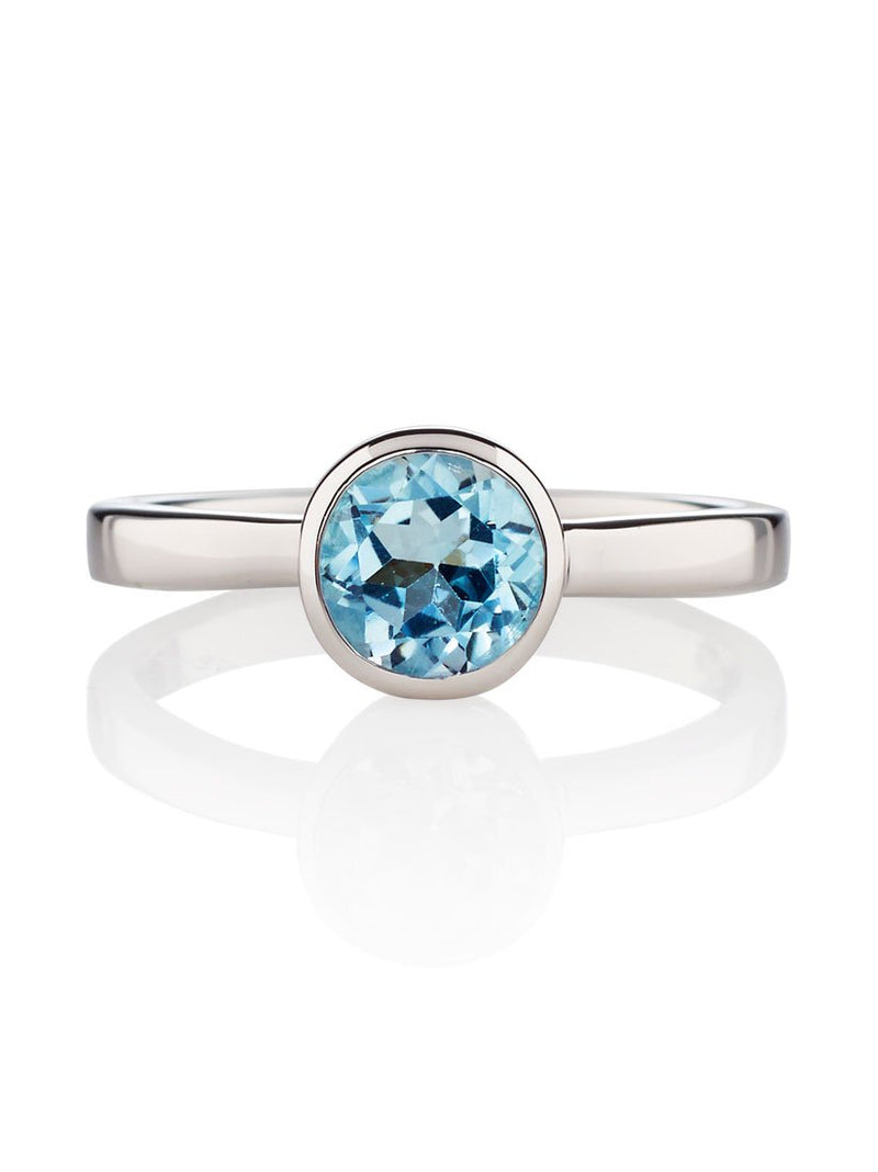 Juliet Silver Ring with Blue Topaz