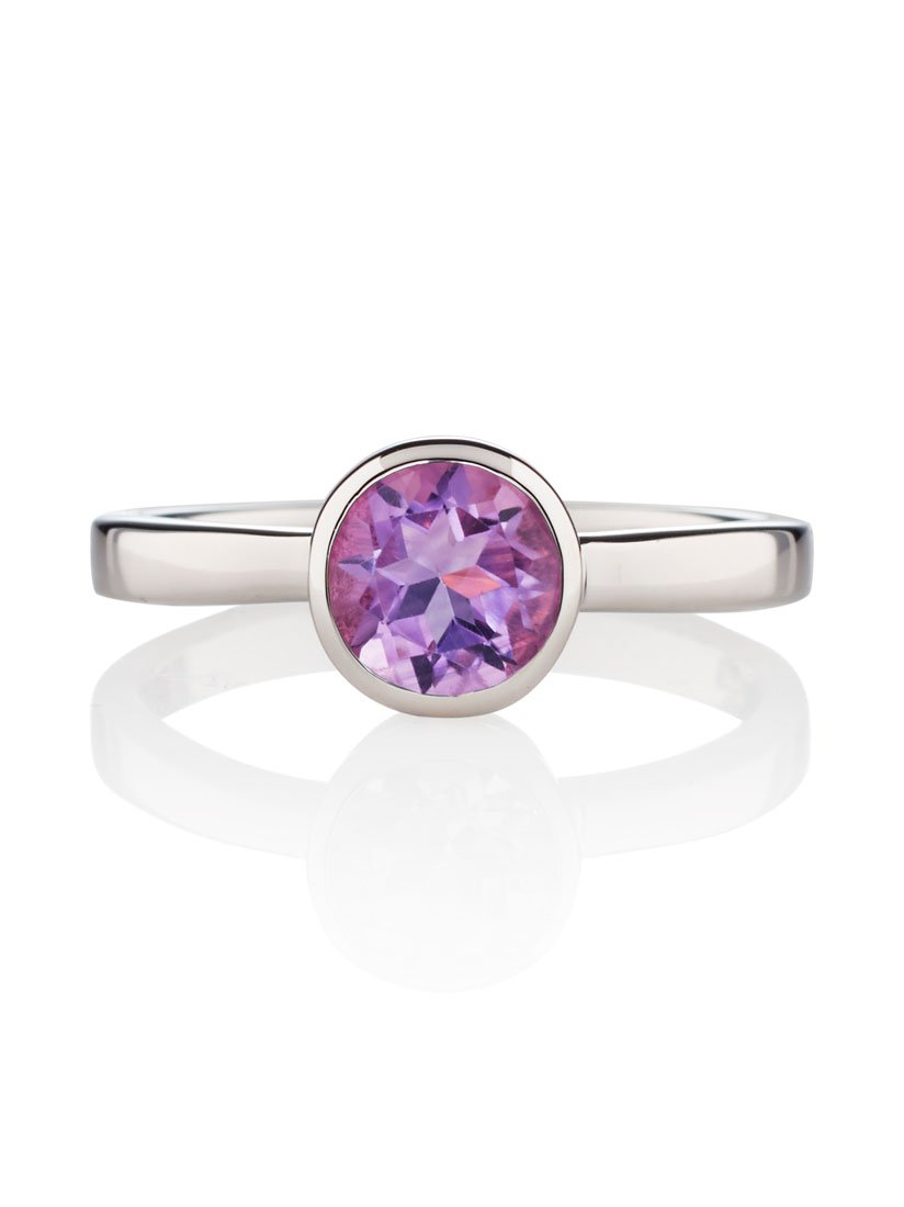 Juliet Silver Ring with Amethyst