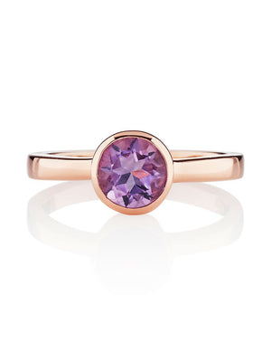 Juliet Rose Gold  Ring with Amethyst