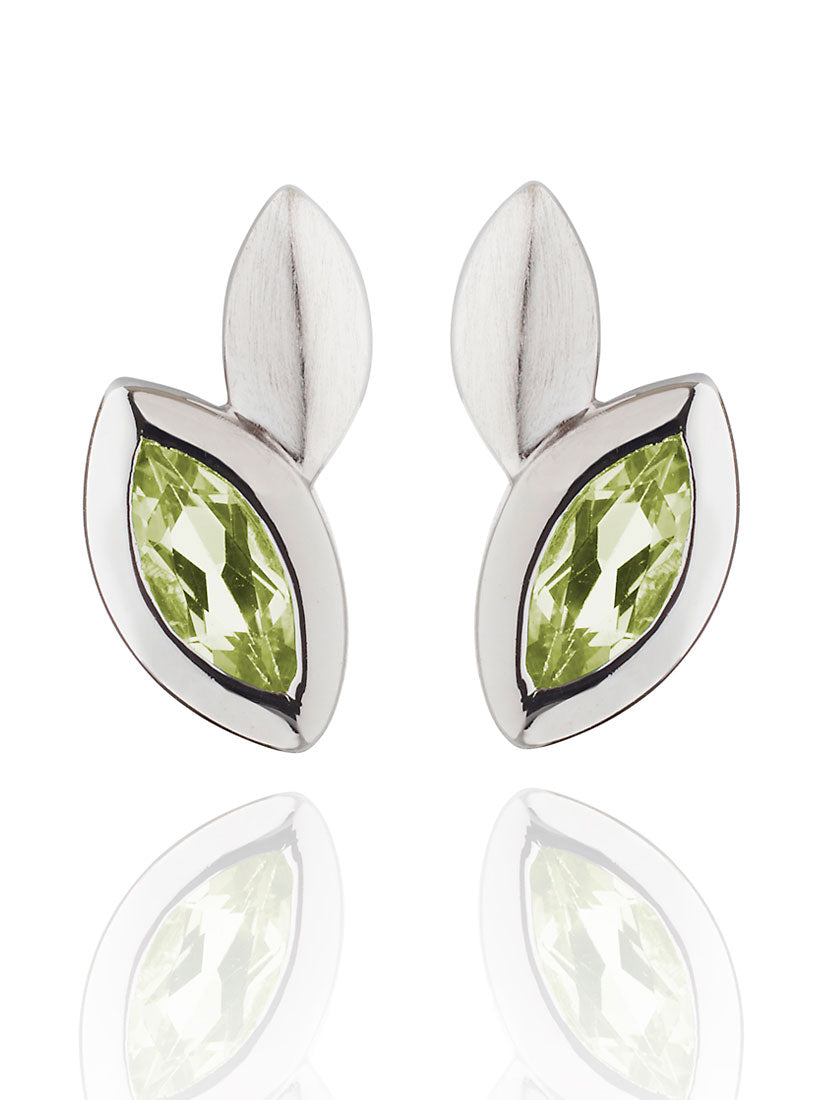 Nara Silver Earrings With Peridot